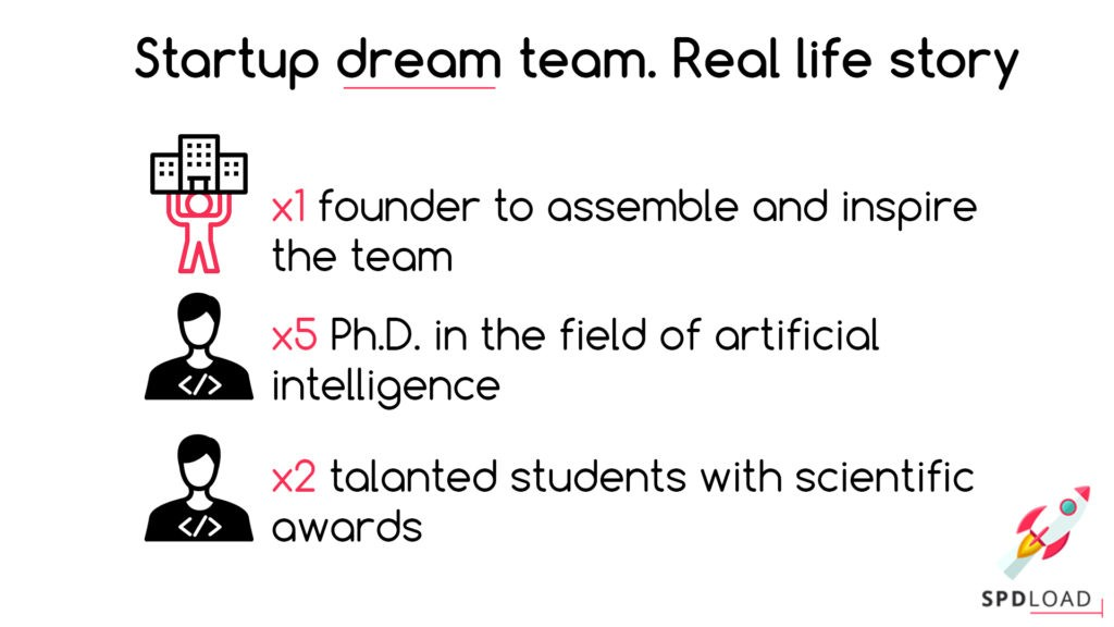 Startup team building – it's possible to assemble the dream team! Real life story.