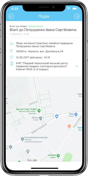 Mobile App for Clinic