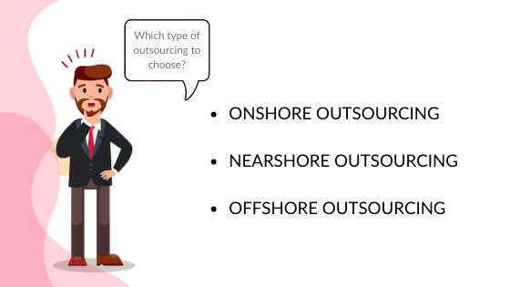 There are exist a few types of outsource web development companies to choose from: onshore, nearshore, and offshore development teams
