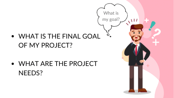 Define your business goals before start to look for how to outsource web developmnent