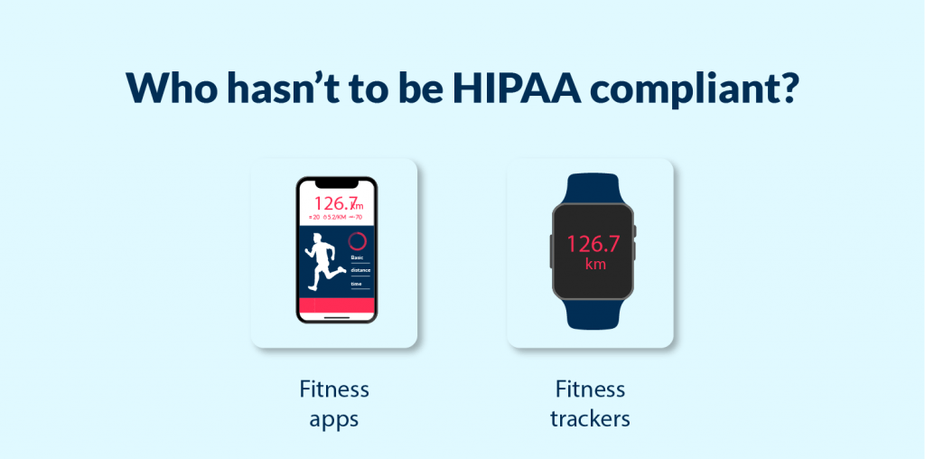 Kinds of app and devices, that do not need to match hipaa compliant mobile app requirements