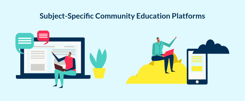 Different communities and comunication between them are fundamental part of learning process.