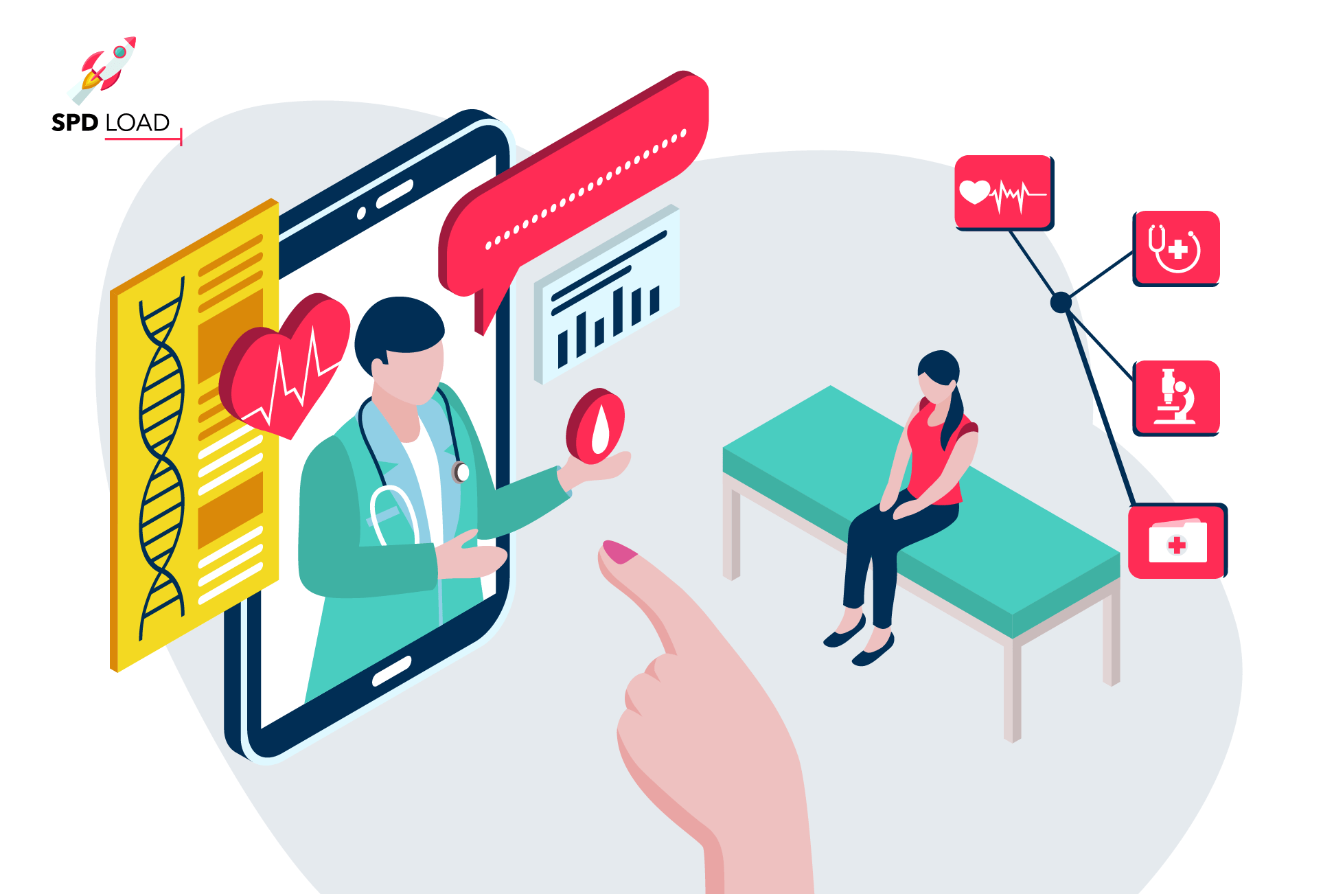 Find out the benefits of electronic health records together with in-depth overview by SPdLoad team