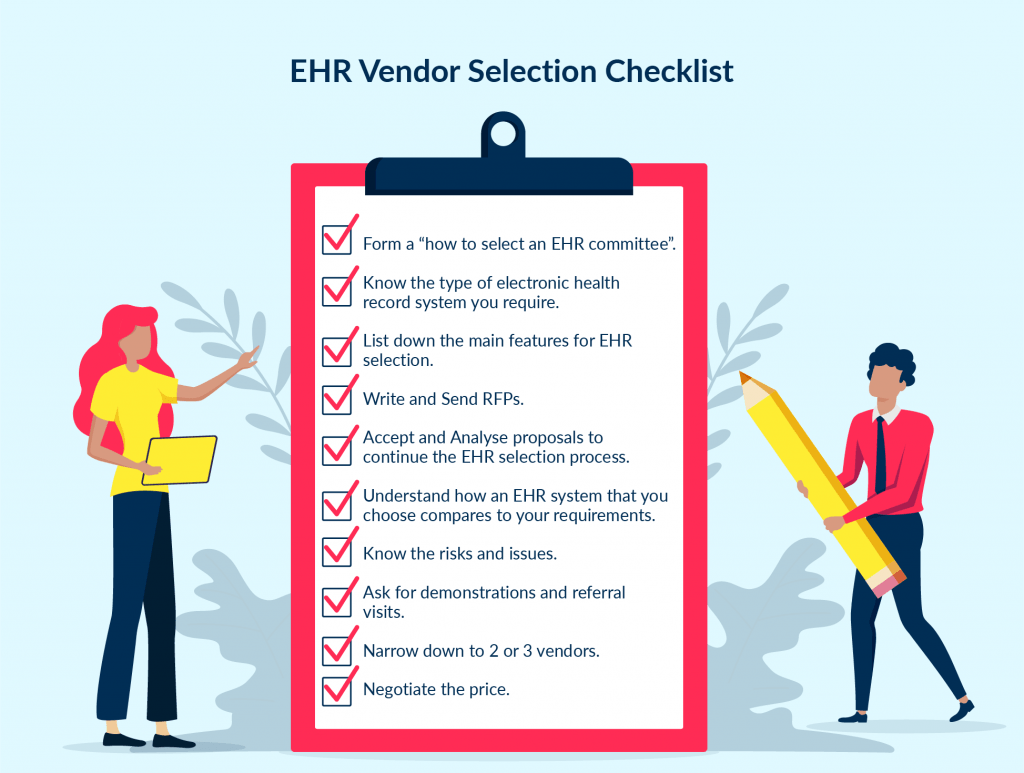 ehr vendor selection checklist