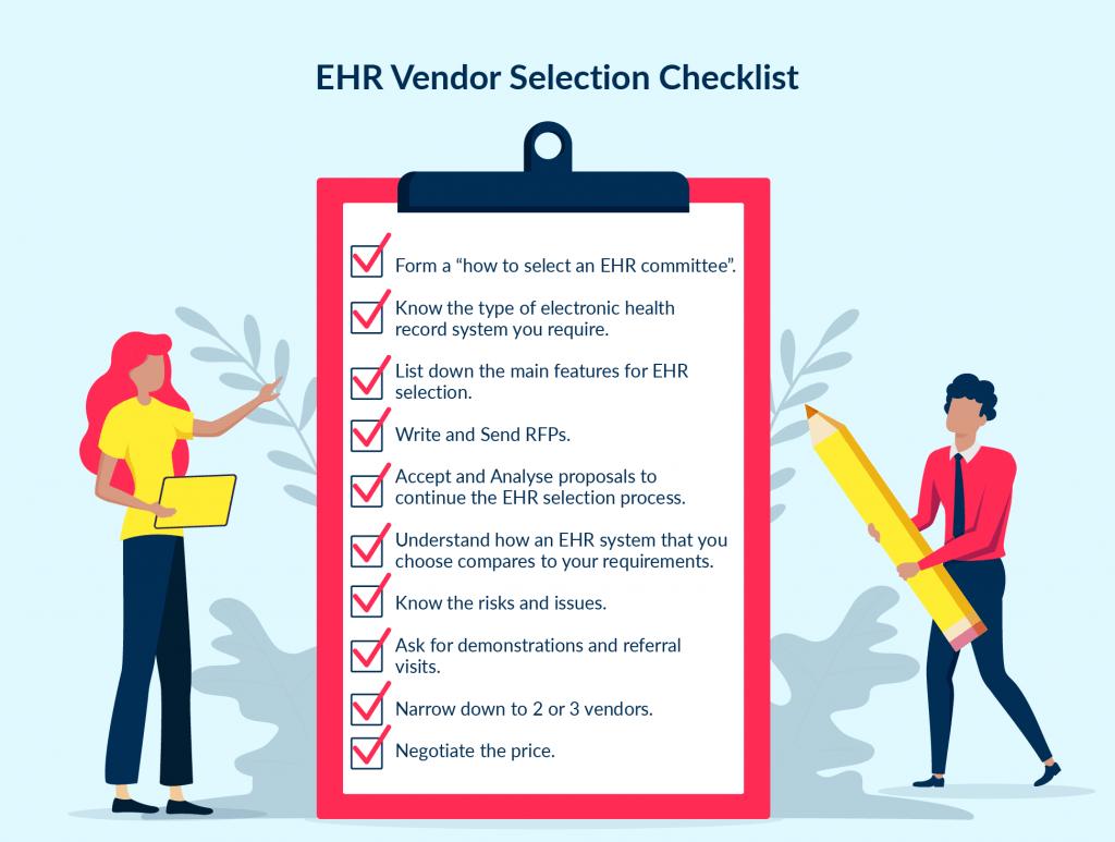 ehr vendor selection checklist