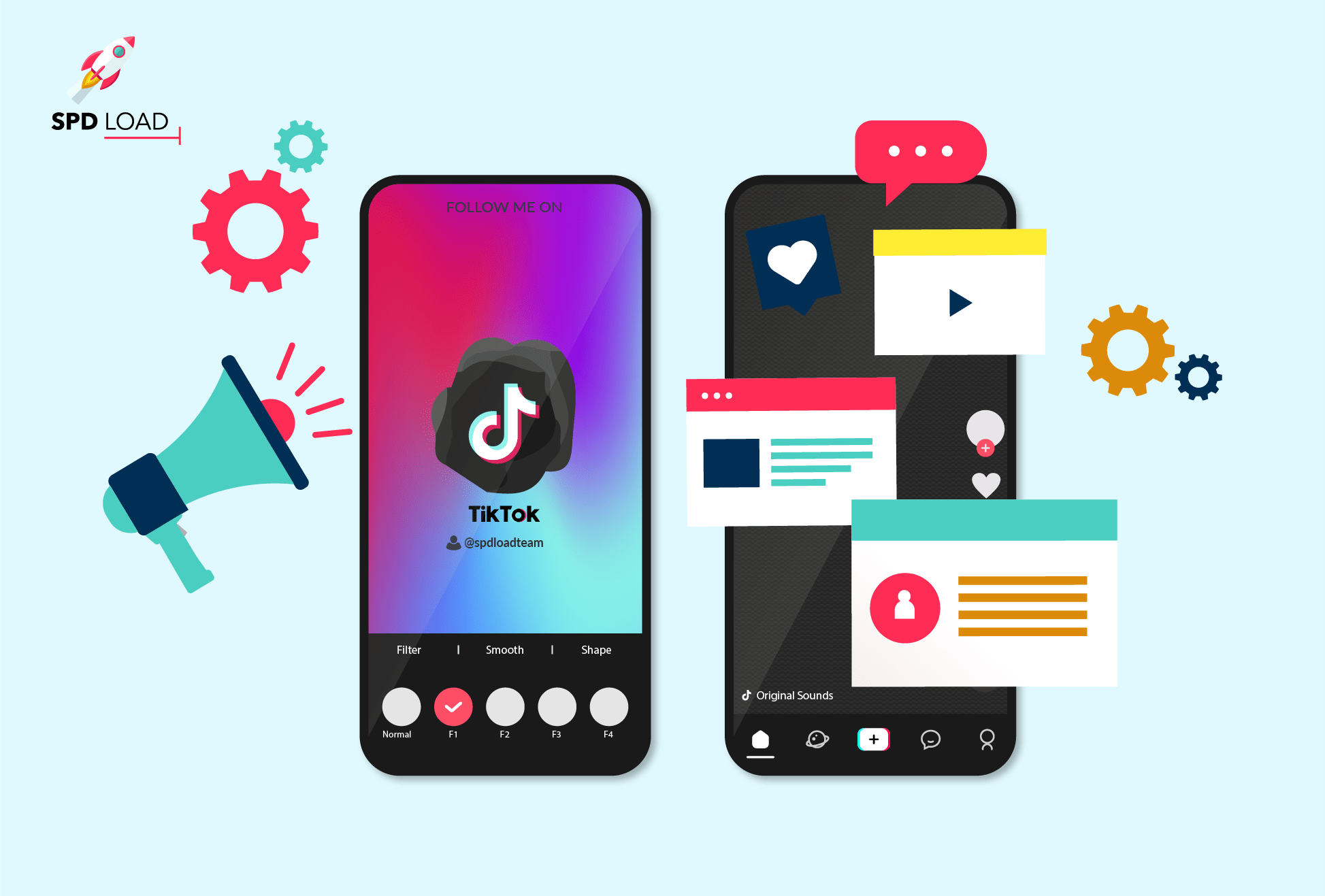 SpdLoad prepared an insightful guide on how to create app like tik tok and consider tiktok app development cost as well
