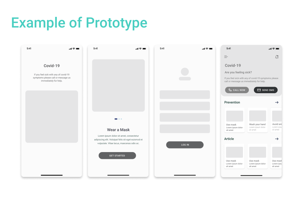 Low-fidelity prototype define the how much does it cost to design an app as well as more detailed versions.