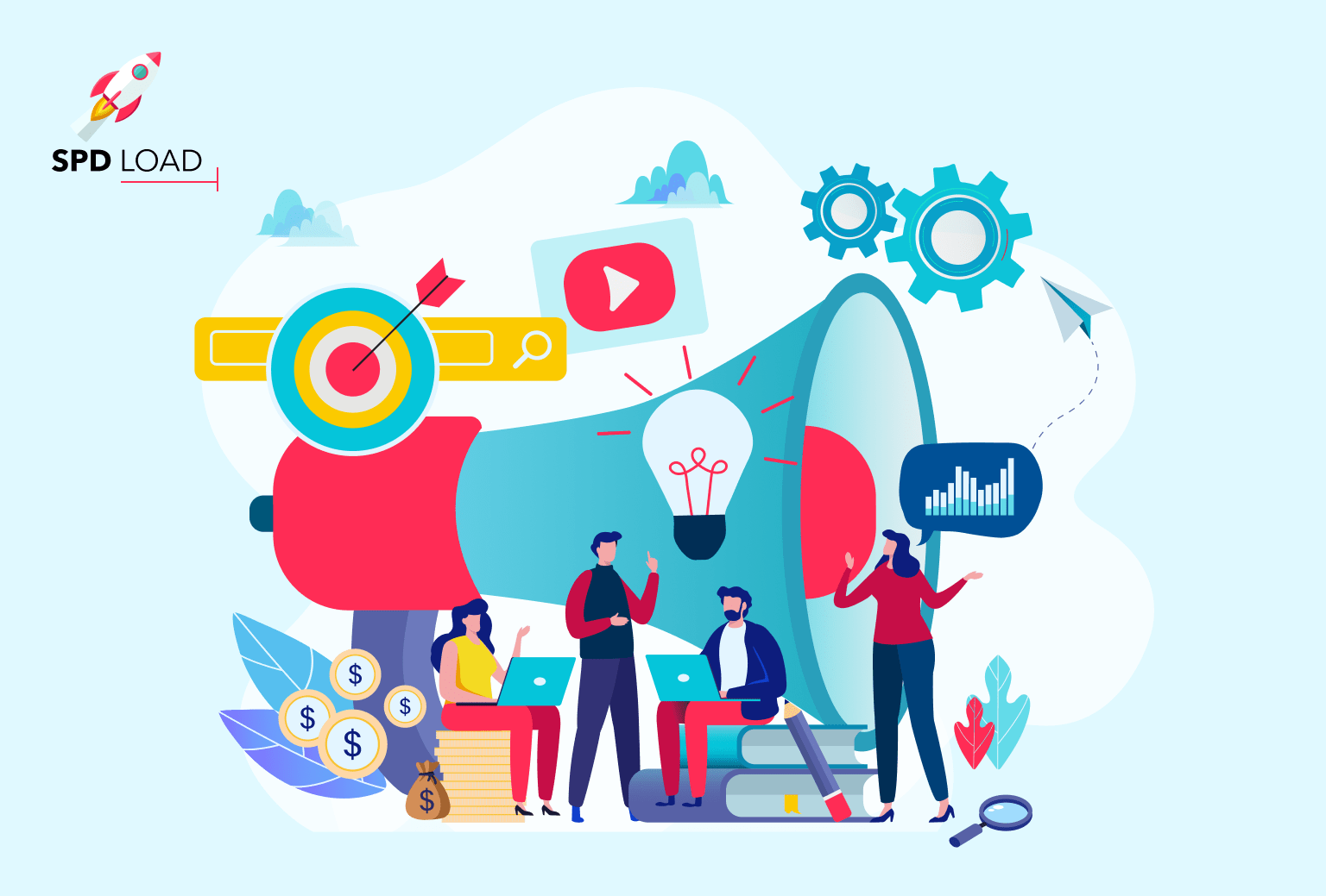 SpdLoad prepared an in-depth overview of digital marketing team structure
