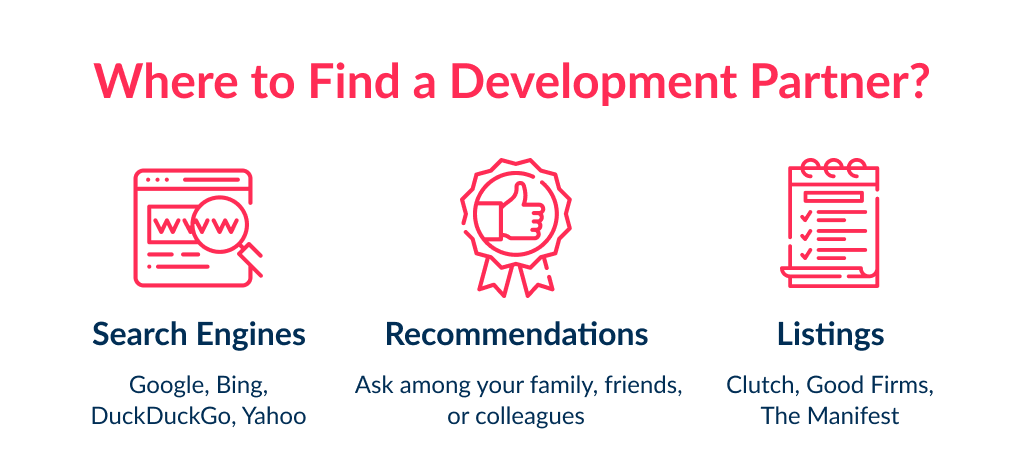 Before consider app development partnership learn about search channels