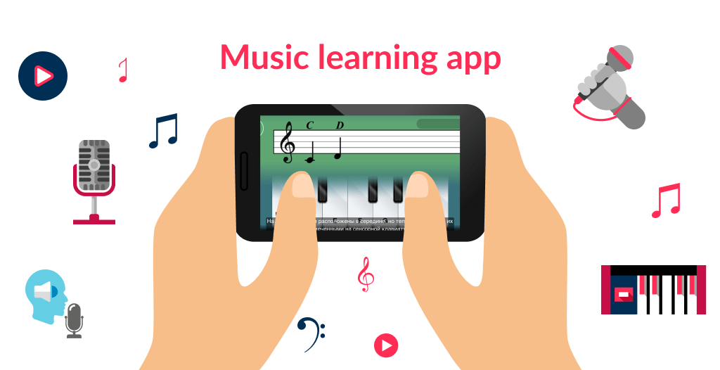 A simple concept of app to learn a music tool is a good addition to ideas for music app