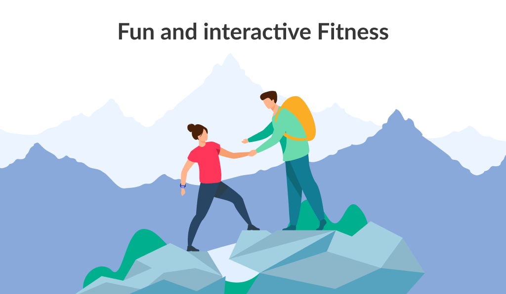 Fun and interactive application is also a good fitness app ideas