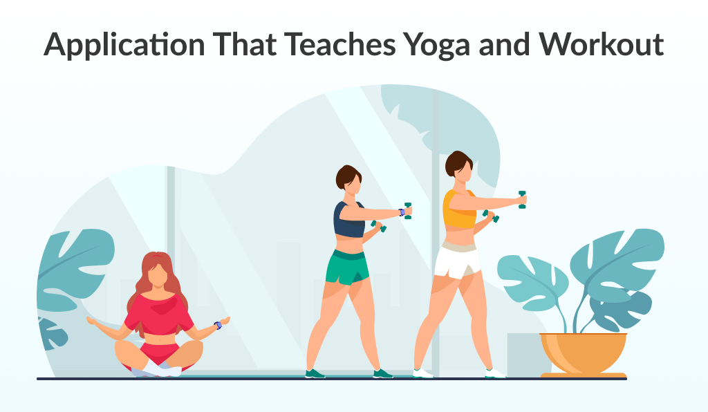 Mix of yoga with sport is another fitness app ideas