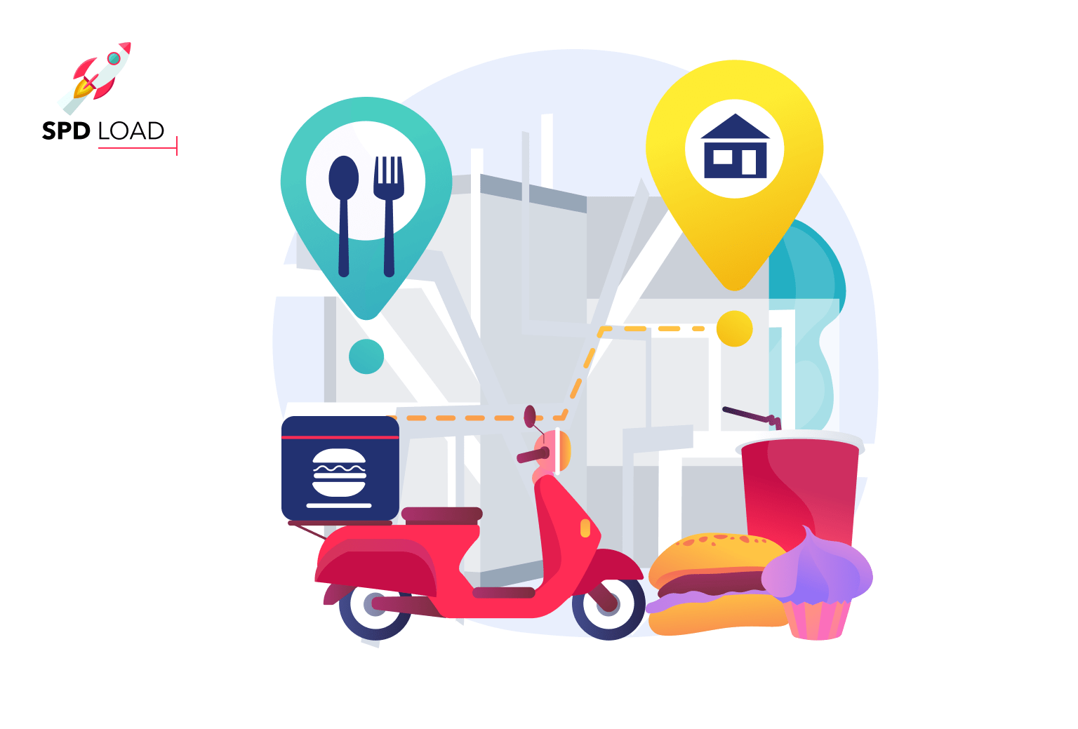 SpdLoad prepared an in-depth guide on how to start a food delivery business