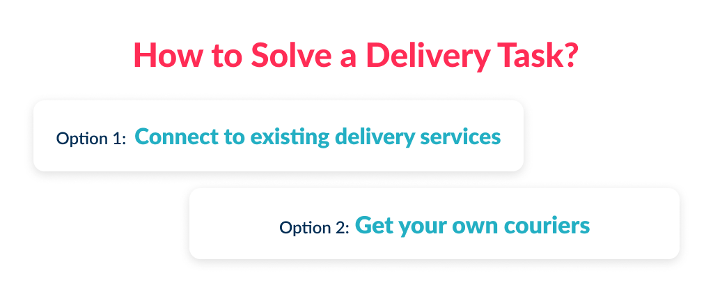Define how to start a food delivery business and start with a logistic question