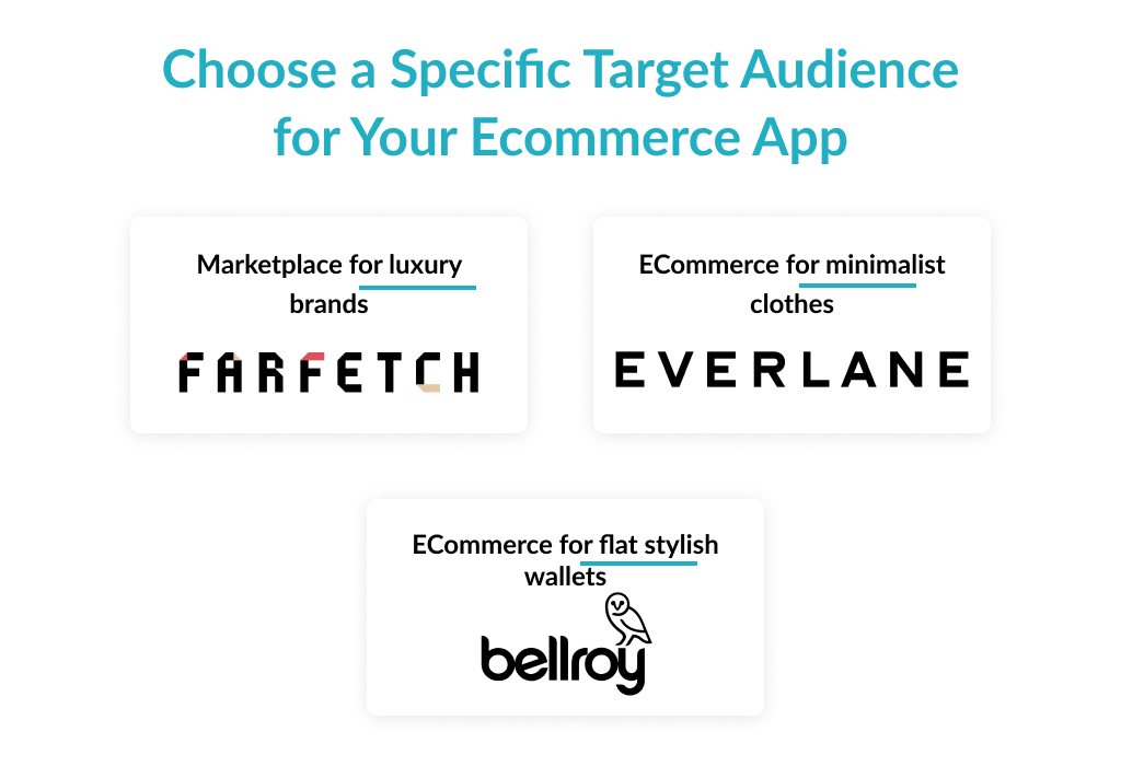 ecommerce application development depends on the chosen target audience
