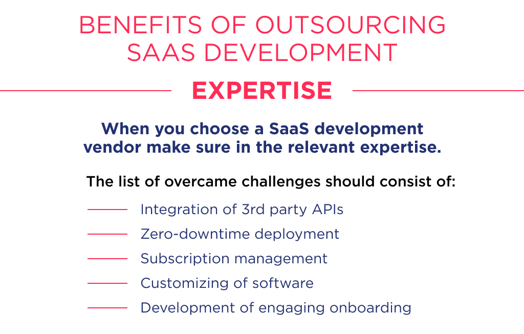 The expertise is one of the key factors to decide to whom start a saas outsourcing