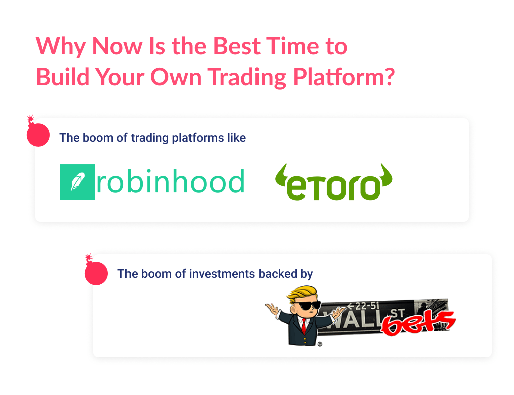 Many startup founders, are interested in how to create a trading platform as now there is a hype of stocks trading