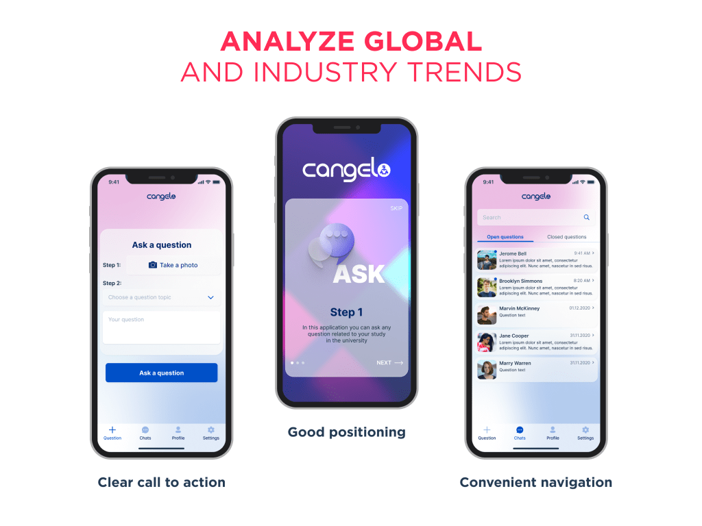 The analysis of global and industry-related UX design trends help to identify the key objectives to outreach while setting up ux redesign process