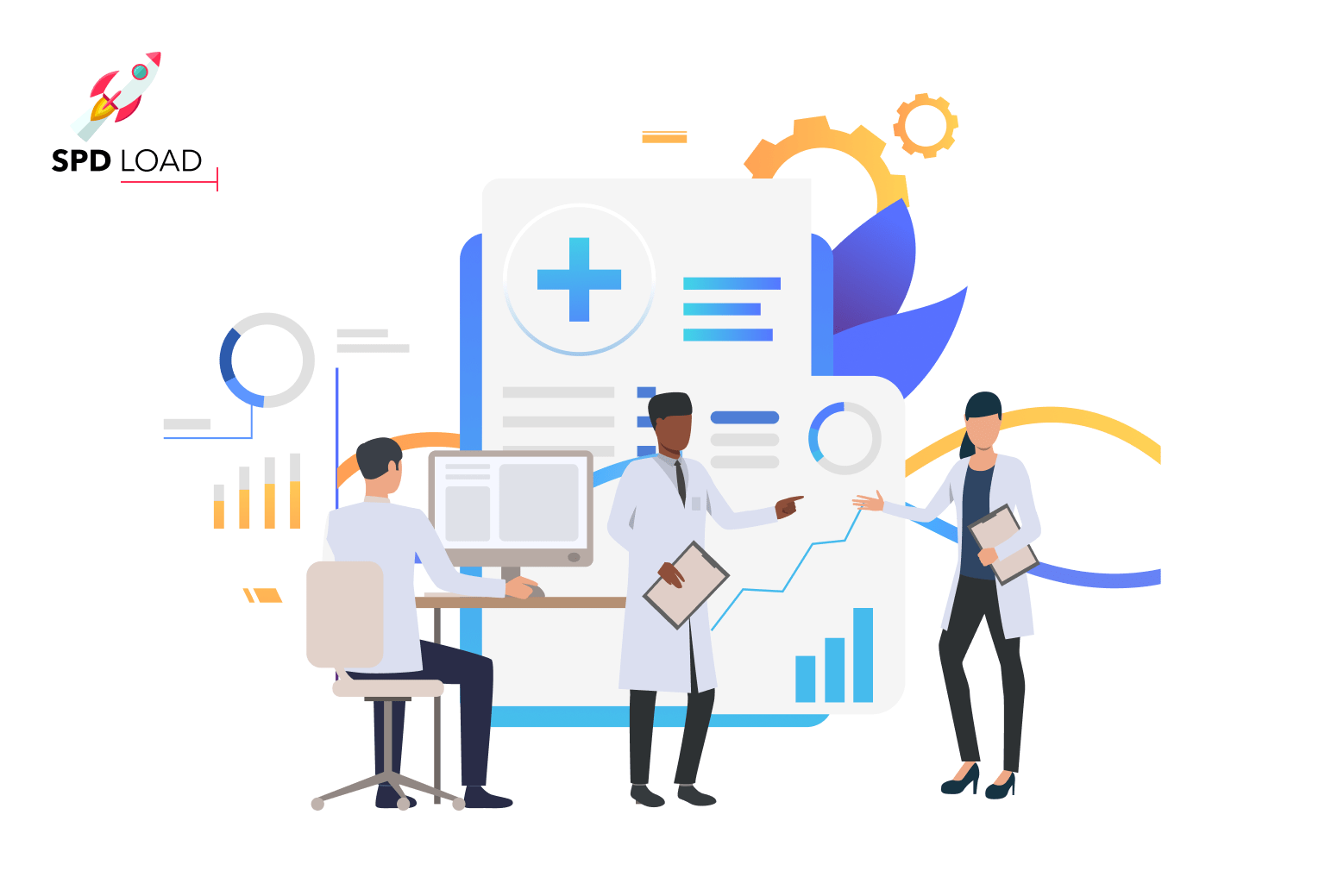 SpdLoad prepared an in-depth guide on how to's and cost of medical website development