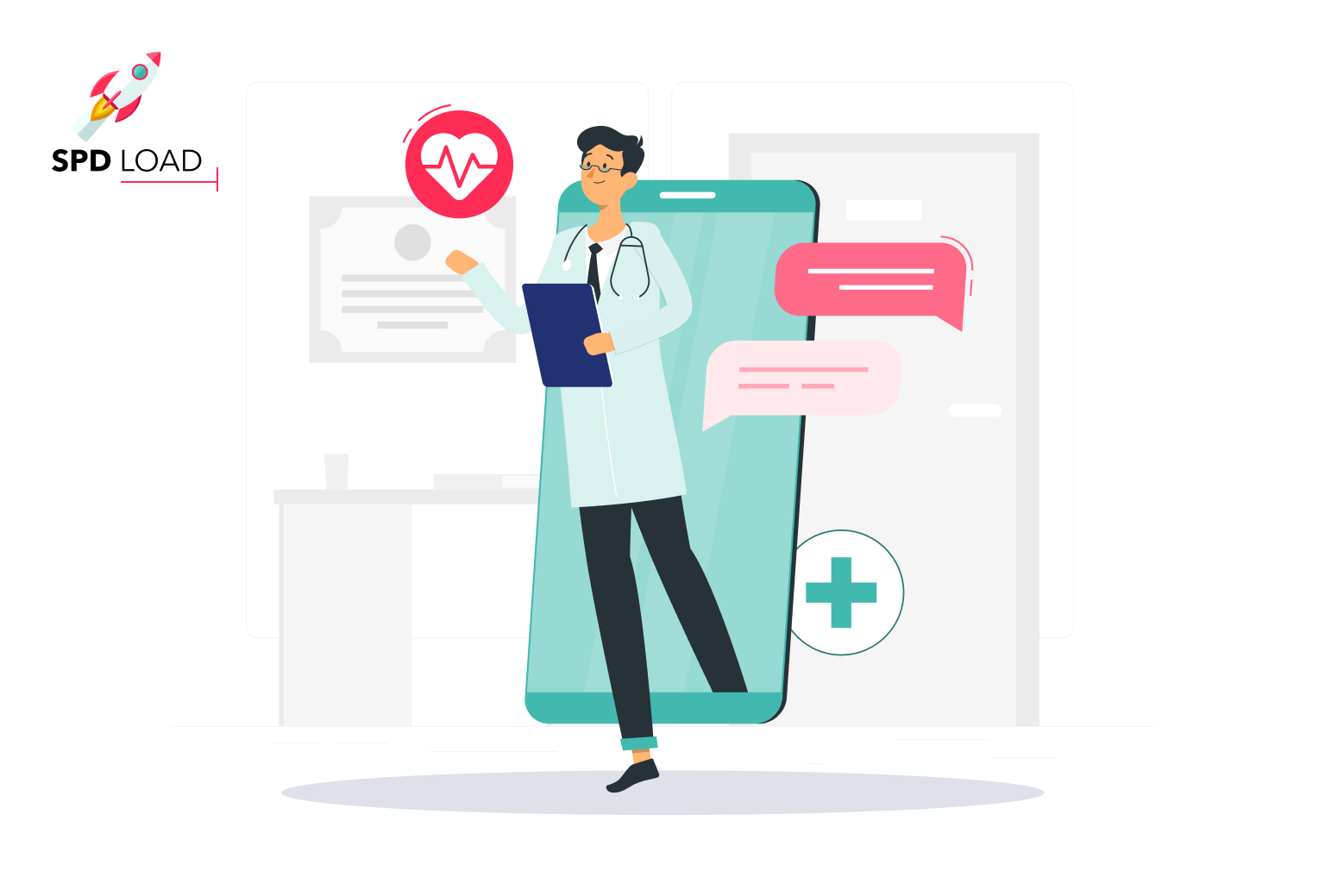 SpdLoad prepare an in-depth guide about how to design a healthcare mobile app