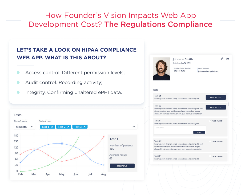The compliance to the number of regulations is another factor, that influence the web app development cost